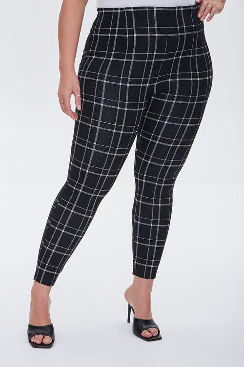 Plus Size Plaid Leggings, image 2