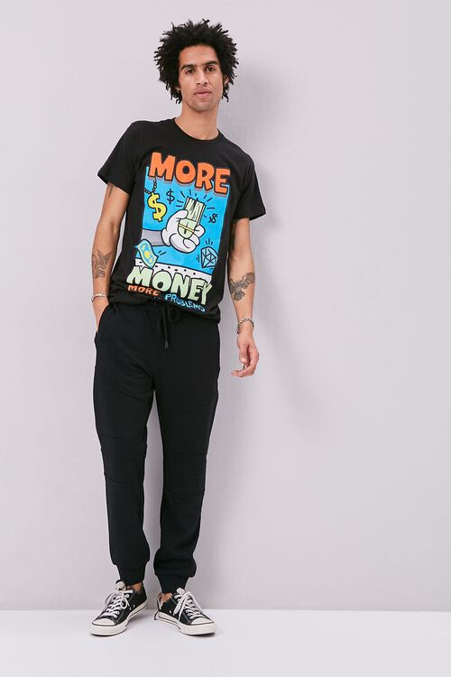 French Terry Drawstring Moto Joggers, image 5