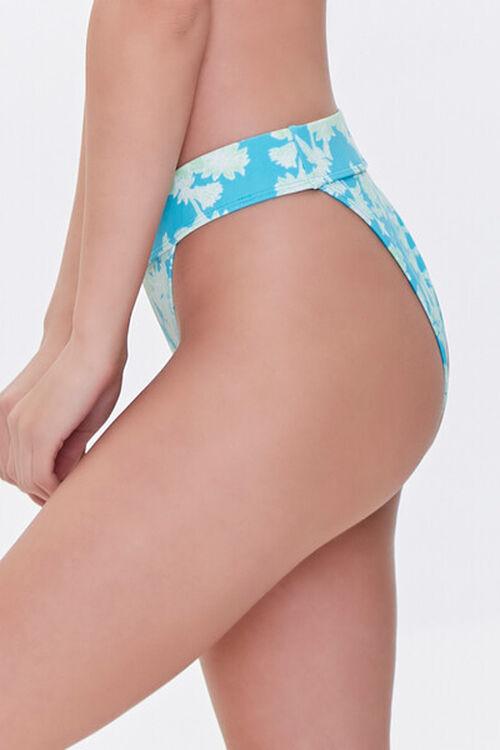 Floral Print High-Waist Bikini Bottoms, image 3