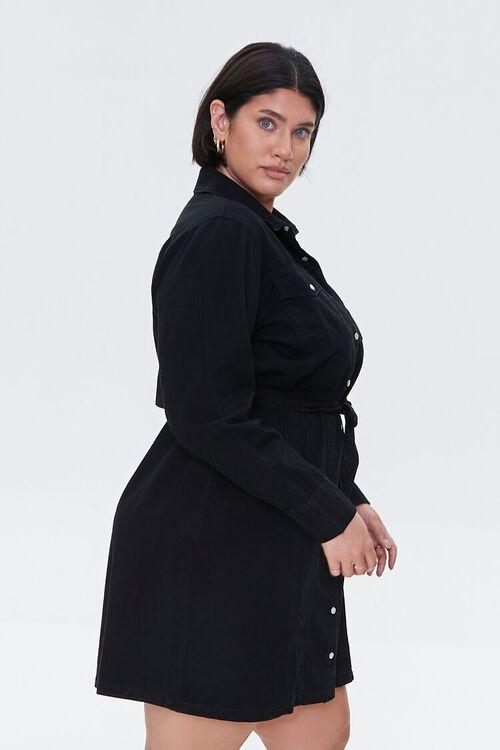 Plus Size Denim Shirt Dress, image 2