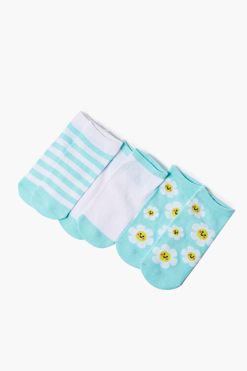 Daisy Print Ankle Socks Set, image 1