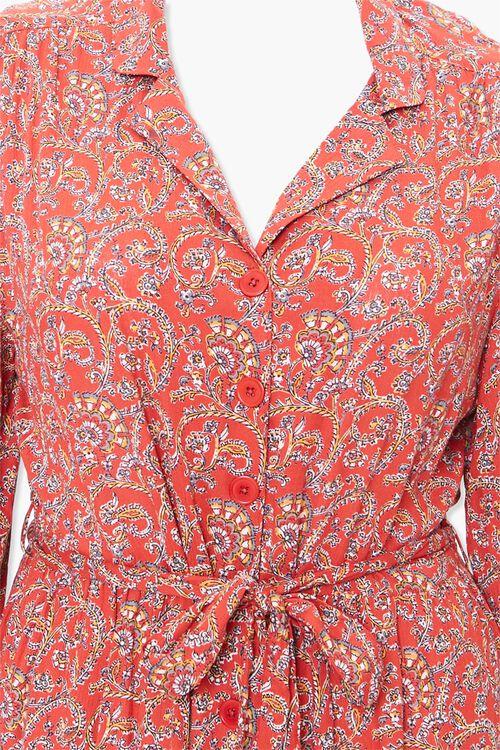 Plus Size Paisley Print Shirt Dress, image 4