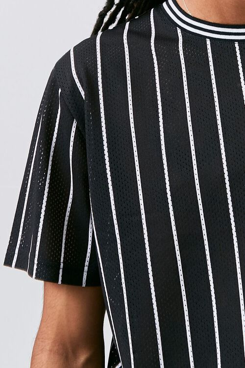 Vertical Striped Print Jersey Mesh Tee, image 5