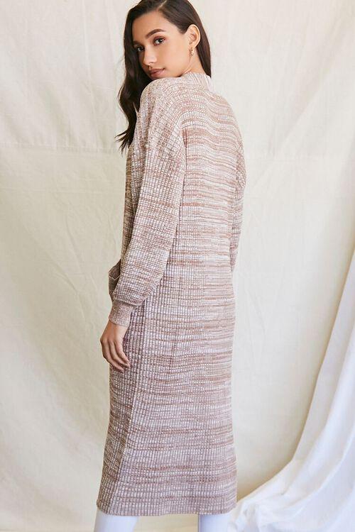 TAUPE/MULTI Longline Cardigan Sweater, image 3