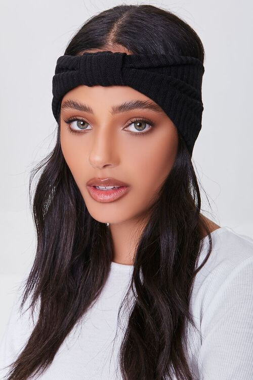 Ribbed Knotted Headwrap, image 1