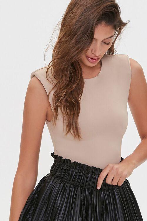 Sleeveless Knit Bodysuit, image 1