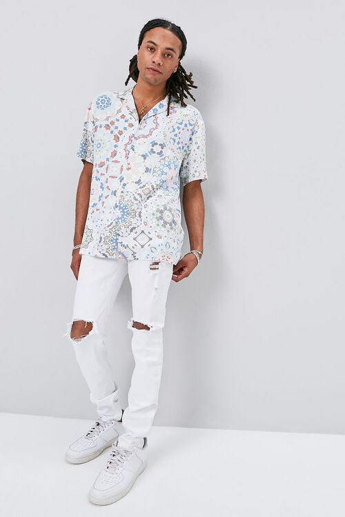 Classic Fit Ornate Print Shirt, image 4