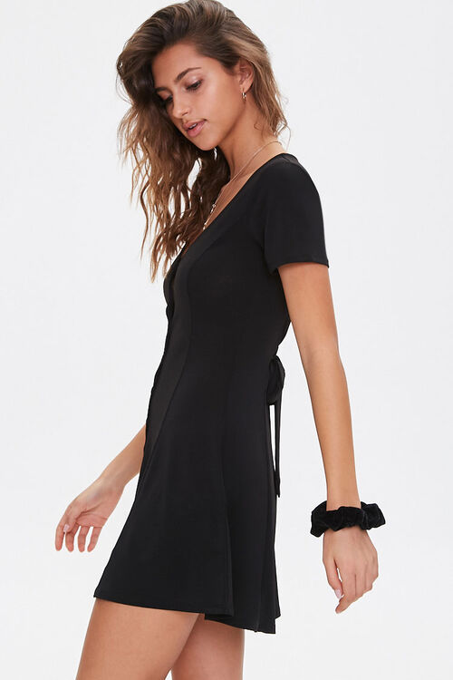 Buttoned Fit & Flare Mini Dress, image 2