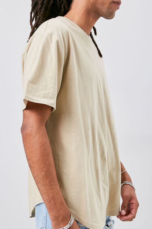 Scoop-Hem Crew Neck Tee, image 2
