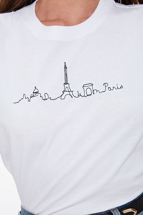 Embroidered Paris Graphic Tee, image 5