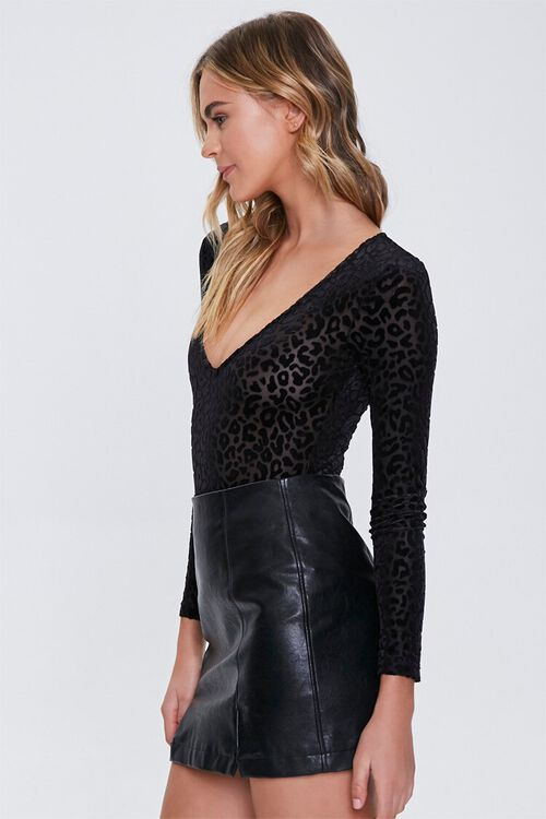Mesh Leopard Print Bodysuit, image 2