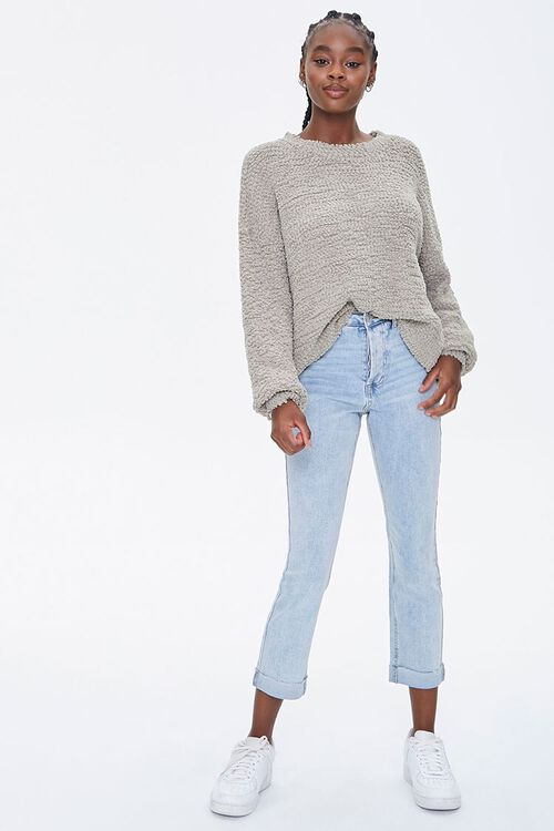 Popcorn Knit Drop-Sleeve Sweater, image 4