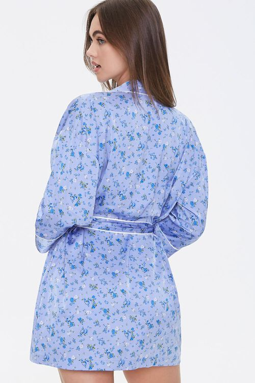 Satin Floral Robe, image 3