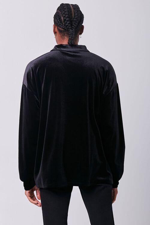 Velour Long Sleeve Polo, image 3