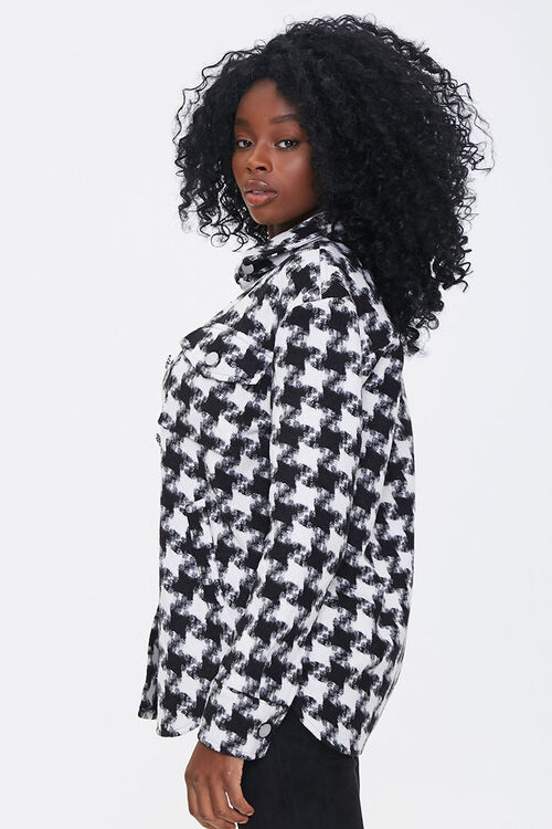 Houndstooth Button-Front Jacket, image 2