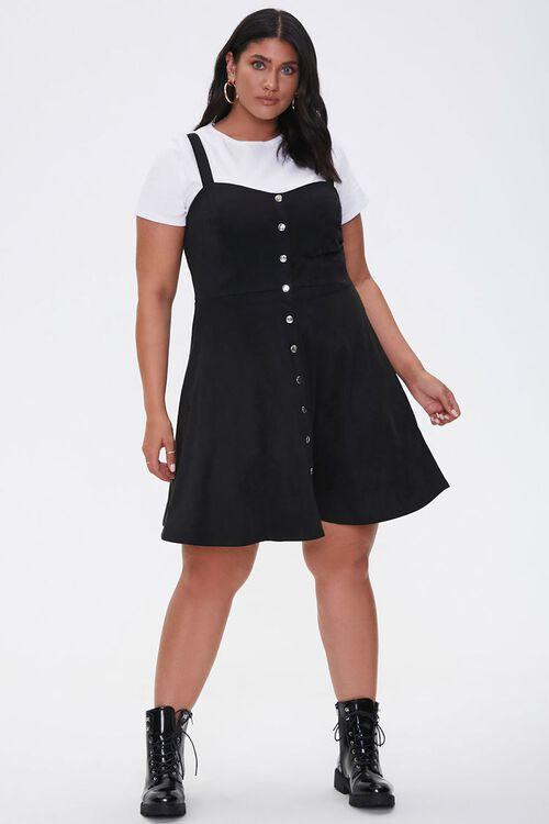Plus Size Pinafore Mini Dress, image 4