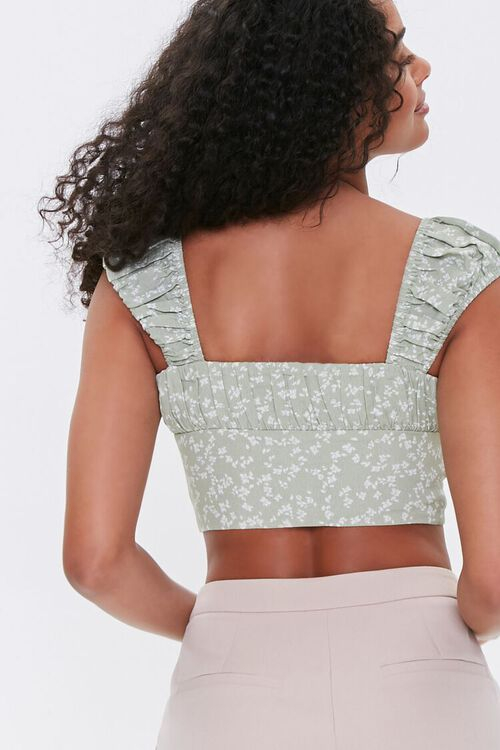 Floral Ruched Crop Top, image 3