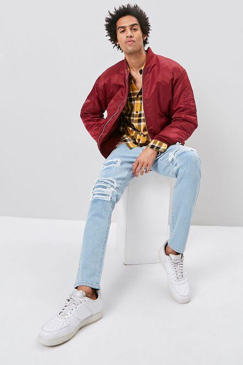 Moto-Panel  Distressed Skinny Jeans, image 1