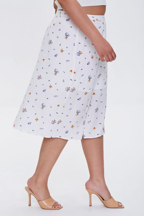 Plus Size Floral Print Skirt, image 3