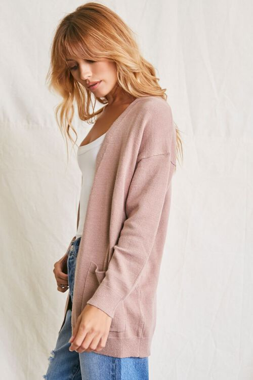 TAUPE Patch-Pocket Cardigan Sweater, image 2