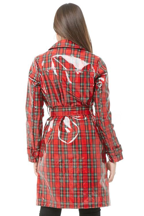 Plaid Print Trench Coat, image 3