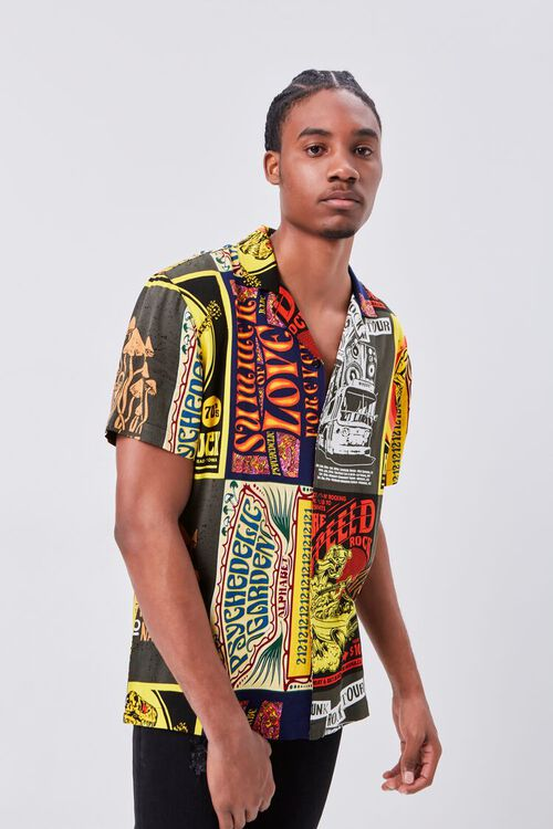 Retro Rock Patchwork Fitted Shirt, image 6