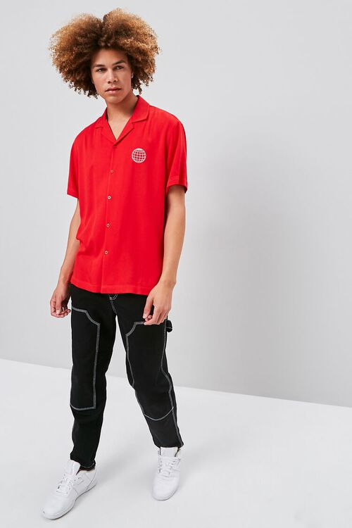 RED/WHITE Classic Fit Worldwide Shirt, image 4
