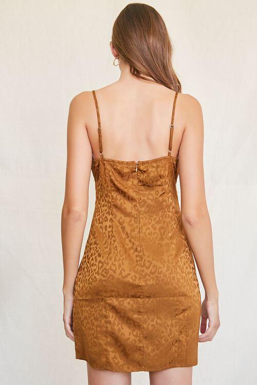 BROWN Leopard Print Mini Dress, image 3