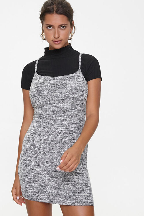 Marled Bodycon Twofer Dress, image 1