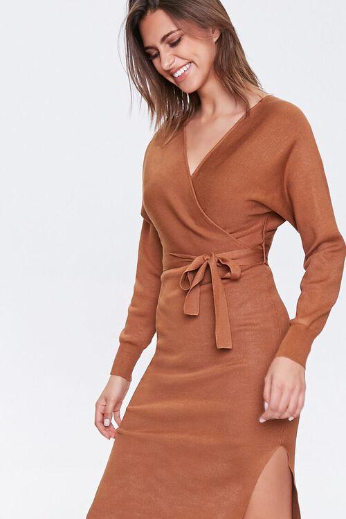 Surplice Wrap Dress, image 1