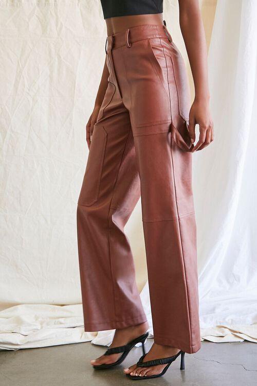 CHOCOLATE Coated Straight-Leg Utility Pants, image 3