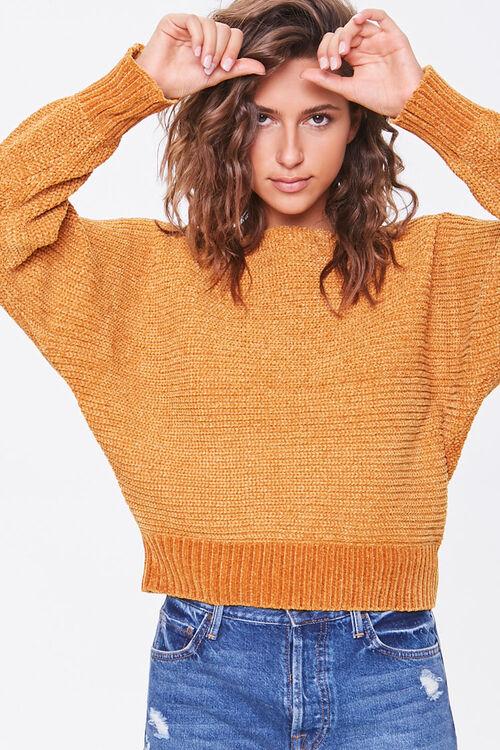 Chenille Boat Neck Sweater, image 1