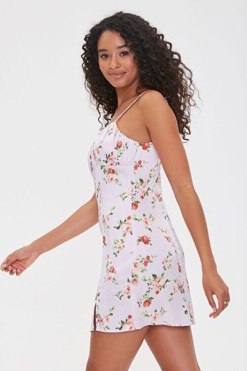 LAVENDER/MULTI Floral Print Cami Mini Dress, image 2