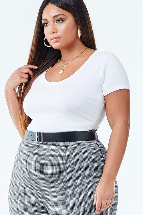 Plus Size Short Sleeve Bodysuit, image 2