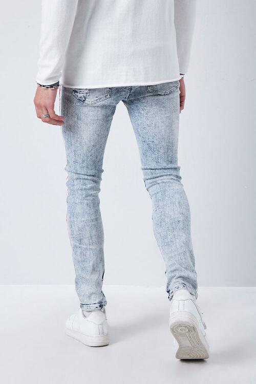 MEDIUM DENIM/MULTI Side-Striped Distressed Jeans, image 4