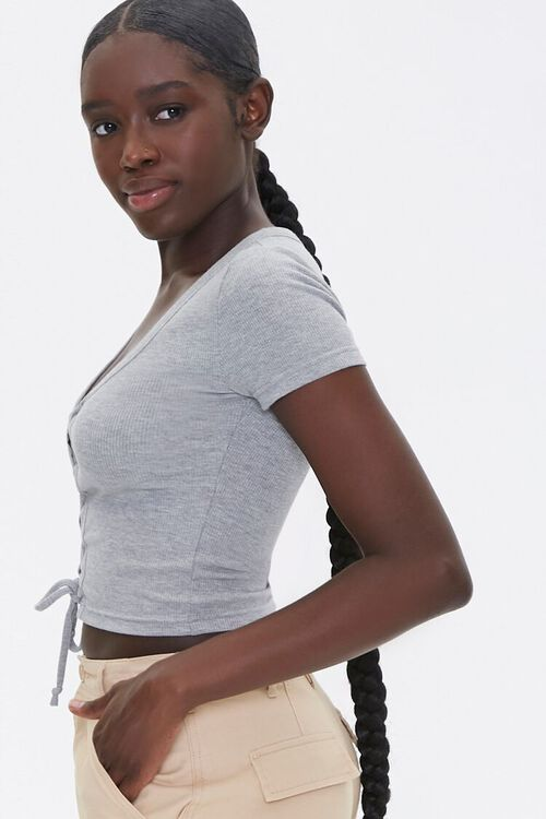 Ribbed Lace-Up Tee, image 2