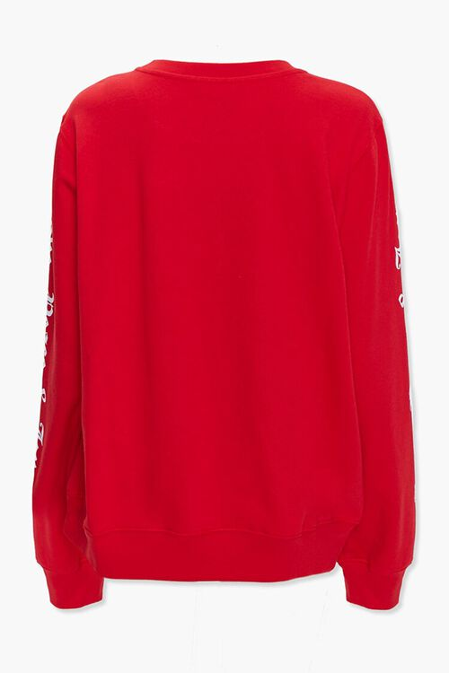 RED/MULTI Snoopy Light-Up Pullover, image 3