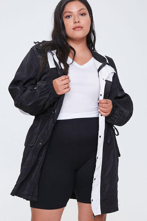 Plus Size Colorblock Utility Jacket, image 1