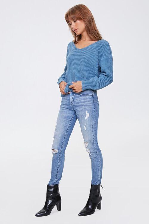 Ribbed Twisted-Back Sweater, image 3