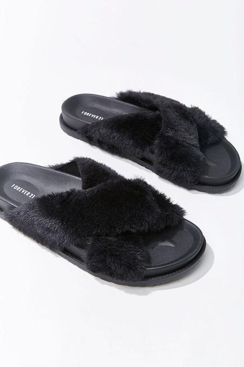Plush Crisscross Slippers, image 3