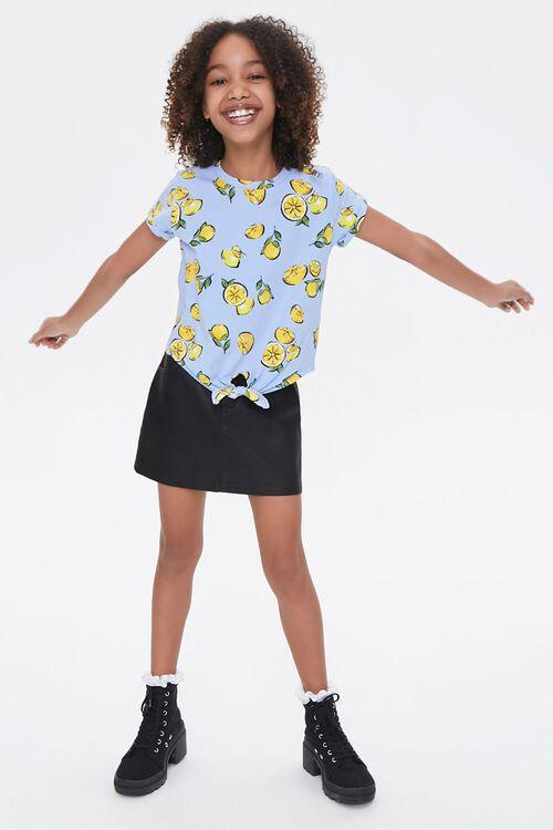 Girls Lemon Print Tee (Kids), image 4