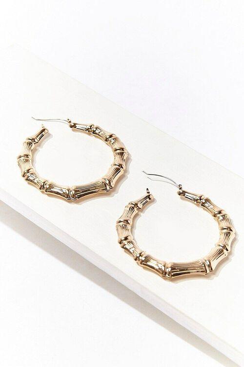 Bamboo Hoop Earrings, image 1