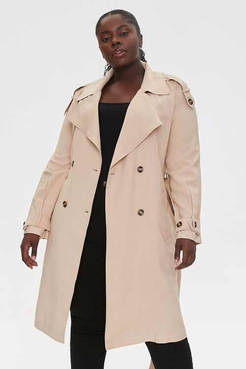 Plus Size Double-Breasted Coat, image 5