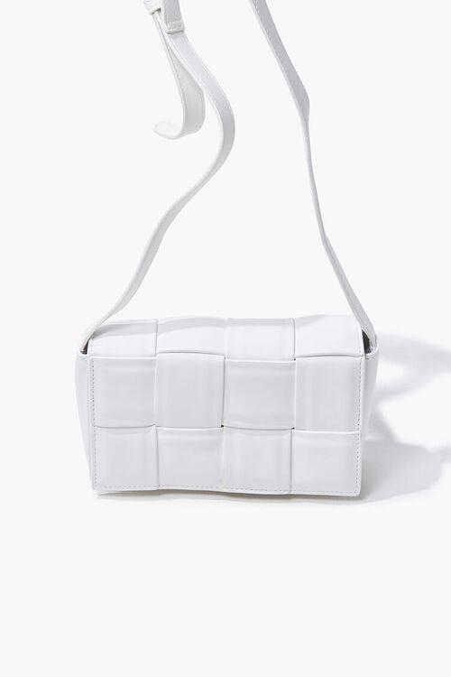 Faux Leather Crosshatch Crossbody Bag, image 5
