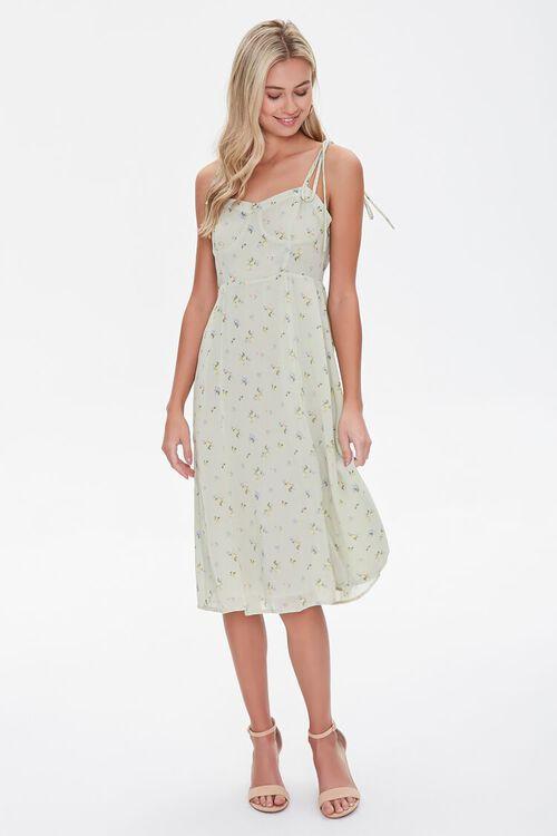 Gauzy Floral Print Dress, image 4