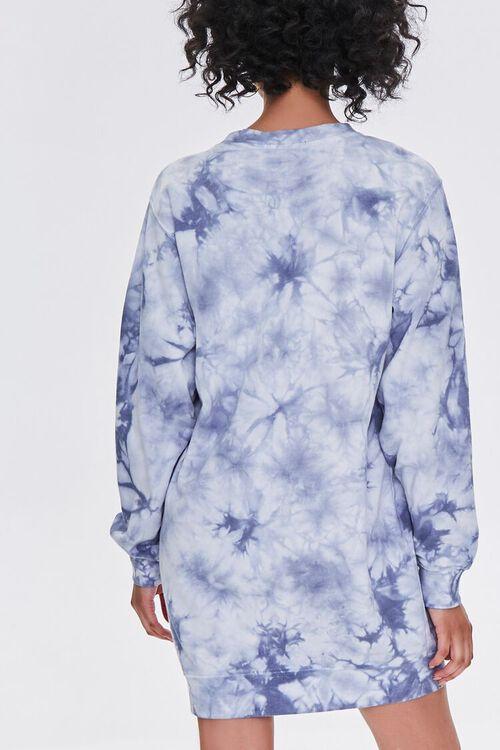 BLUE/MULTI Tie-Dye Floral Graphic Dress, image 3