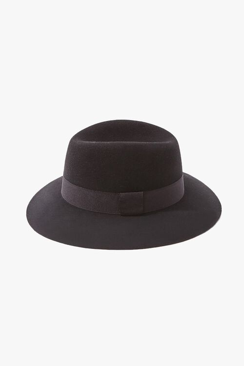 Brushed Ribbon-Trim Fedora, image 2