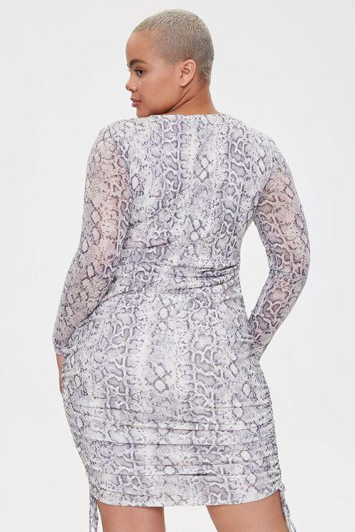 Plus Size Snake Print Mini Dress, image 3