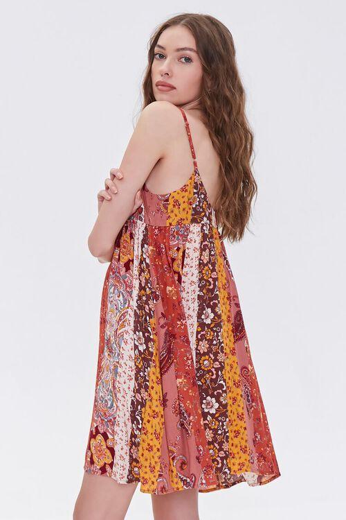 RUST/MULTI Patchwork Cami Mini Dress, image 2