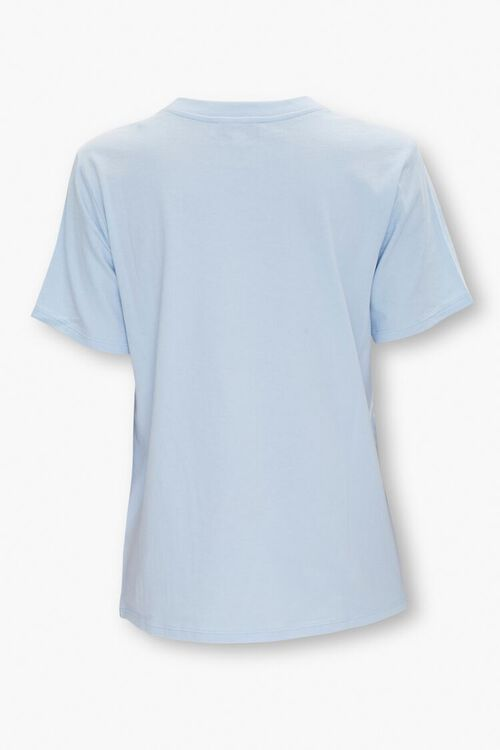 BLUE/WHITE Organically Grown Cotton Graphic Tee, image 2